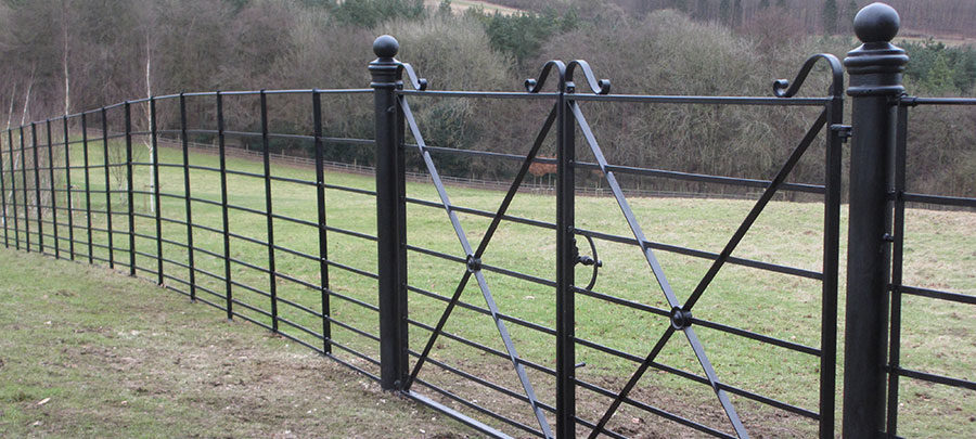Deer Park with pair of double gates