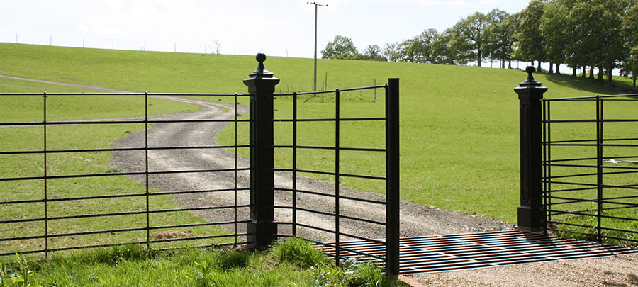 Cast iron gate post