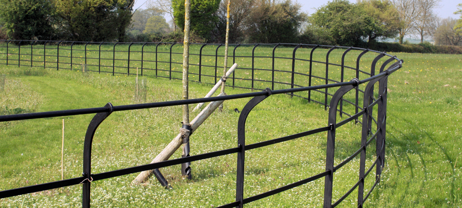 1.2m Cheshire painted estate fencing