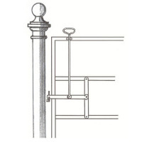 High handle horse catch, fencing and gate accessories