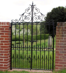 Walled Garden Gates . Designed and used in many walled gardens to provide a decorative feature, our wrought iron gates are handmade by our blacksmiths.