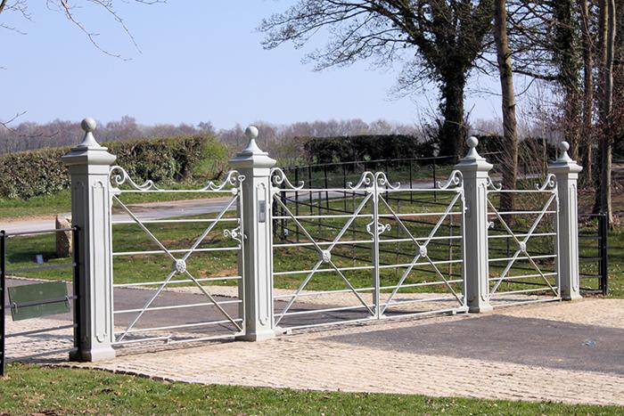 Malvern entrance gates from cd ironworks